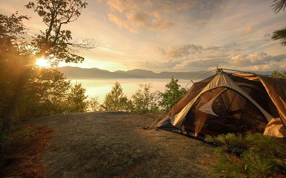 derechos en un camping