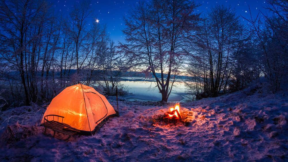 Acampar en zonas de frío